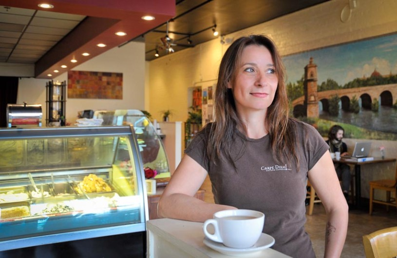 Silvia Bertolazzi is the founder and owner of Carpe Diem! Gelato - Espresso Bar in Downtown Lafayette.
