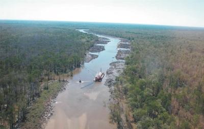 Bayou Postillion dredging