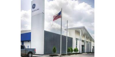 The new GE Oil & Gas facility off Highway 90 gets its corporate identity.